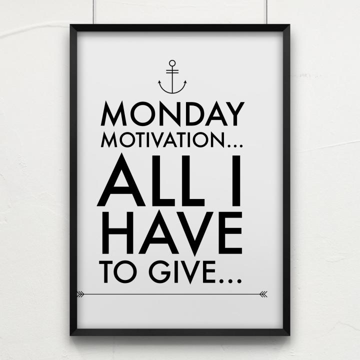 Monday Motivation: All I Have ToGive…