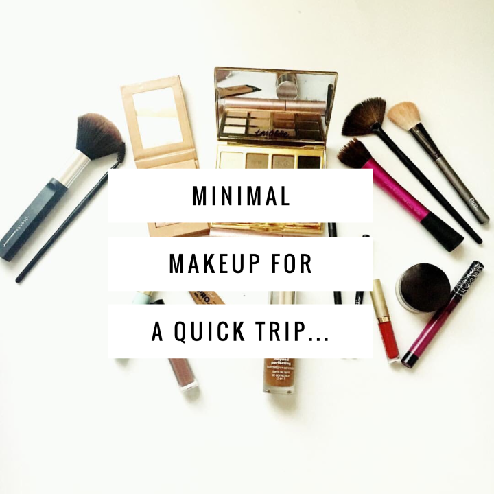 Minimal Makeup For A Quick Trip…
